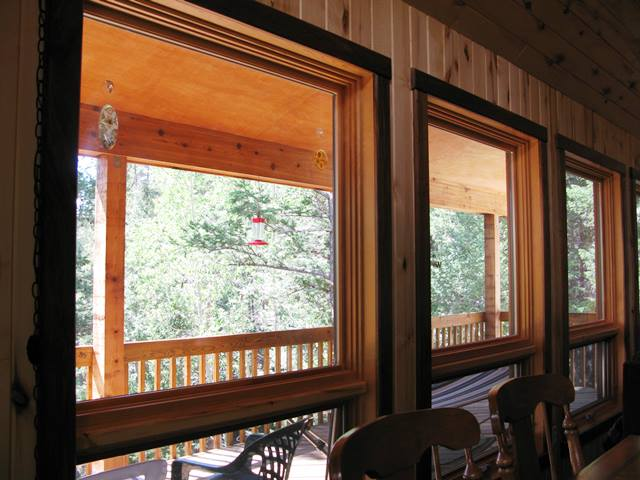 laws out windows to covered deck